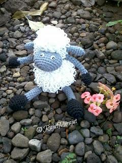 Amigurumi Domba, Amigurumi Lamb, Amigurumi Sheep, Domba Rajut, Crochet Amigurumi