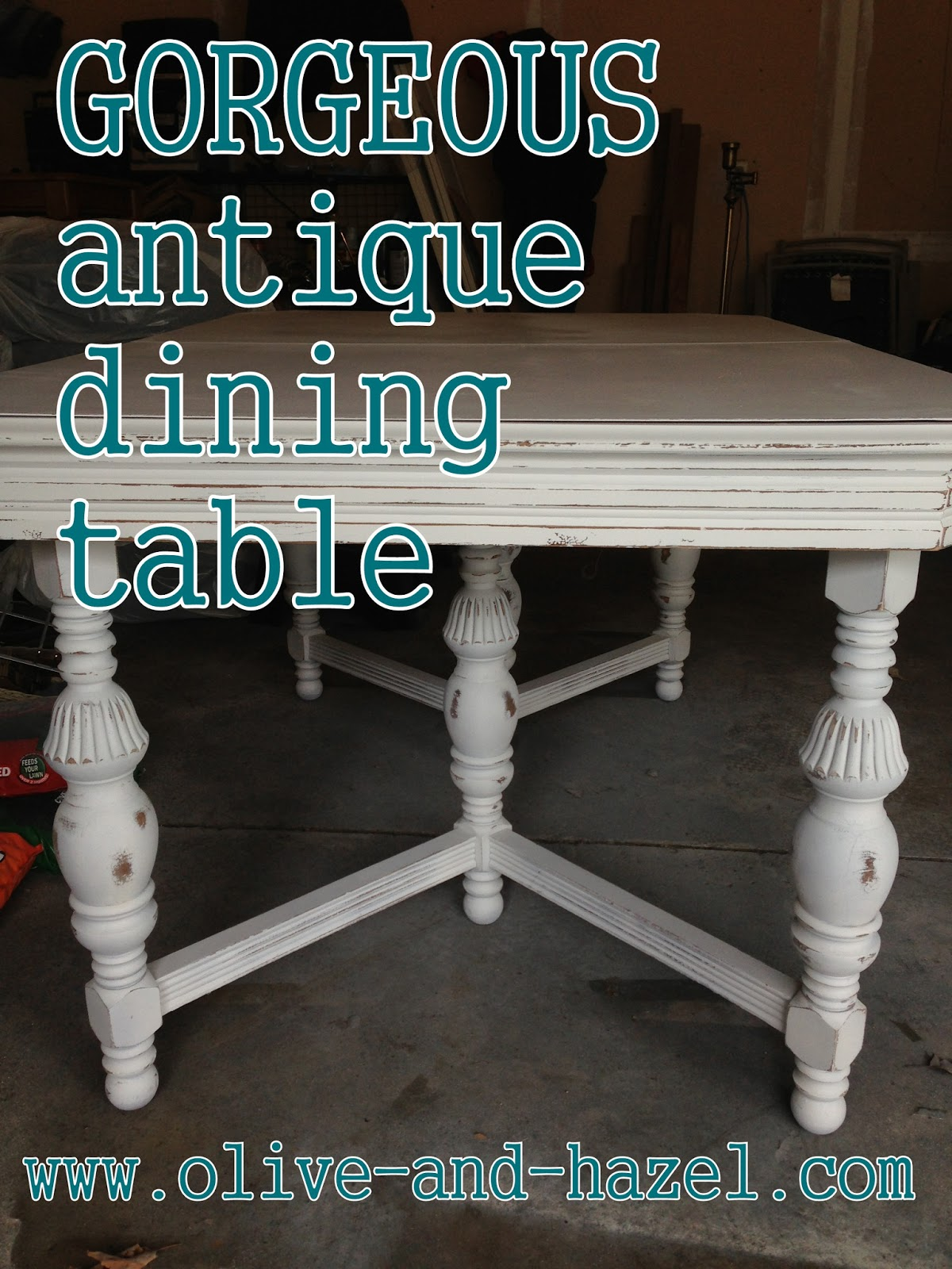 A M Z I N G Antique Dining Table With Hidden Leaf Sold