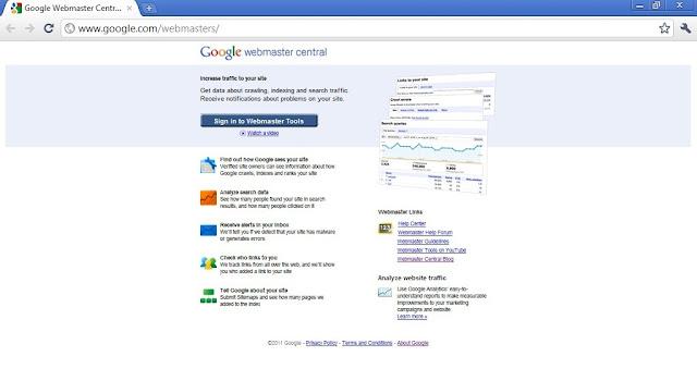 Cara Mempercepat Index Google - Submit Sitemap Melalui Google Webmaster Tool