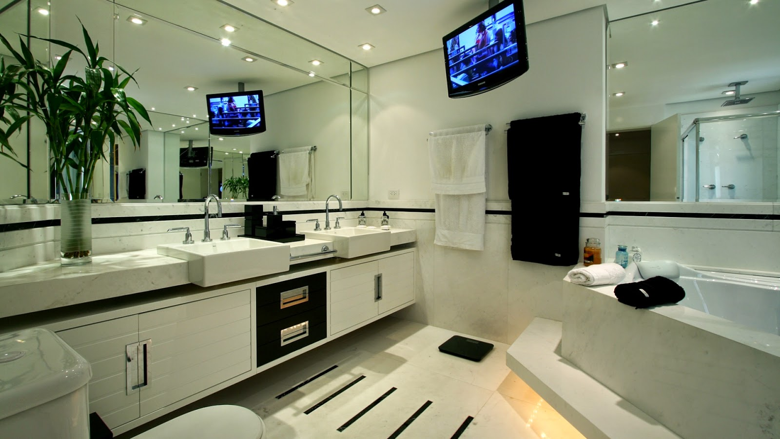 Imagens de #1B2C81  decoracao de banheiros pequenos com box decoracao de banheiro  1600x900 px 3558 Blindex Banheiro Belem