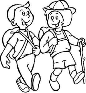 Nino Y Nina Caminando En Una Excursion Portal Escuela