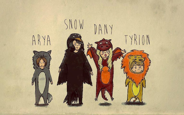 Atrya Jon Daenerys Tyrion disfraces adorables - Juego de Tronos en los siete reinos