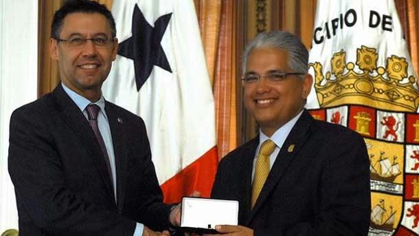 Josep Maria Bartomeu ha recibido la llave de la Ciudad de Panamá