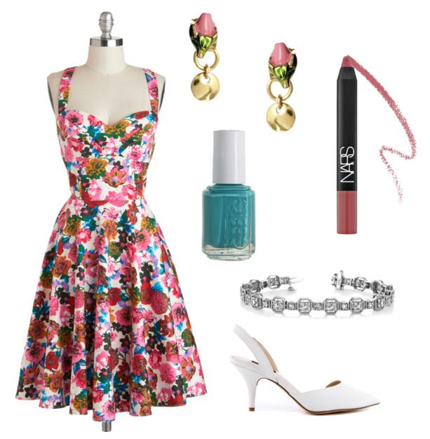 retro spring outfit
