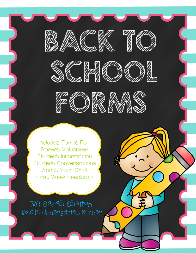 http://www.teacherspayteachers.com/Product/5-Back-to-School-Forms-289899