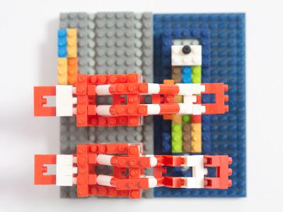 ナノブロックで作ったガントリークレーン