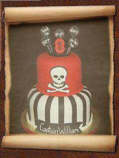 Pirate birthday cake decoration
