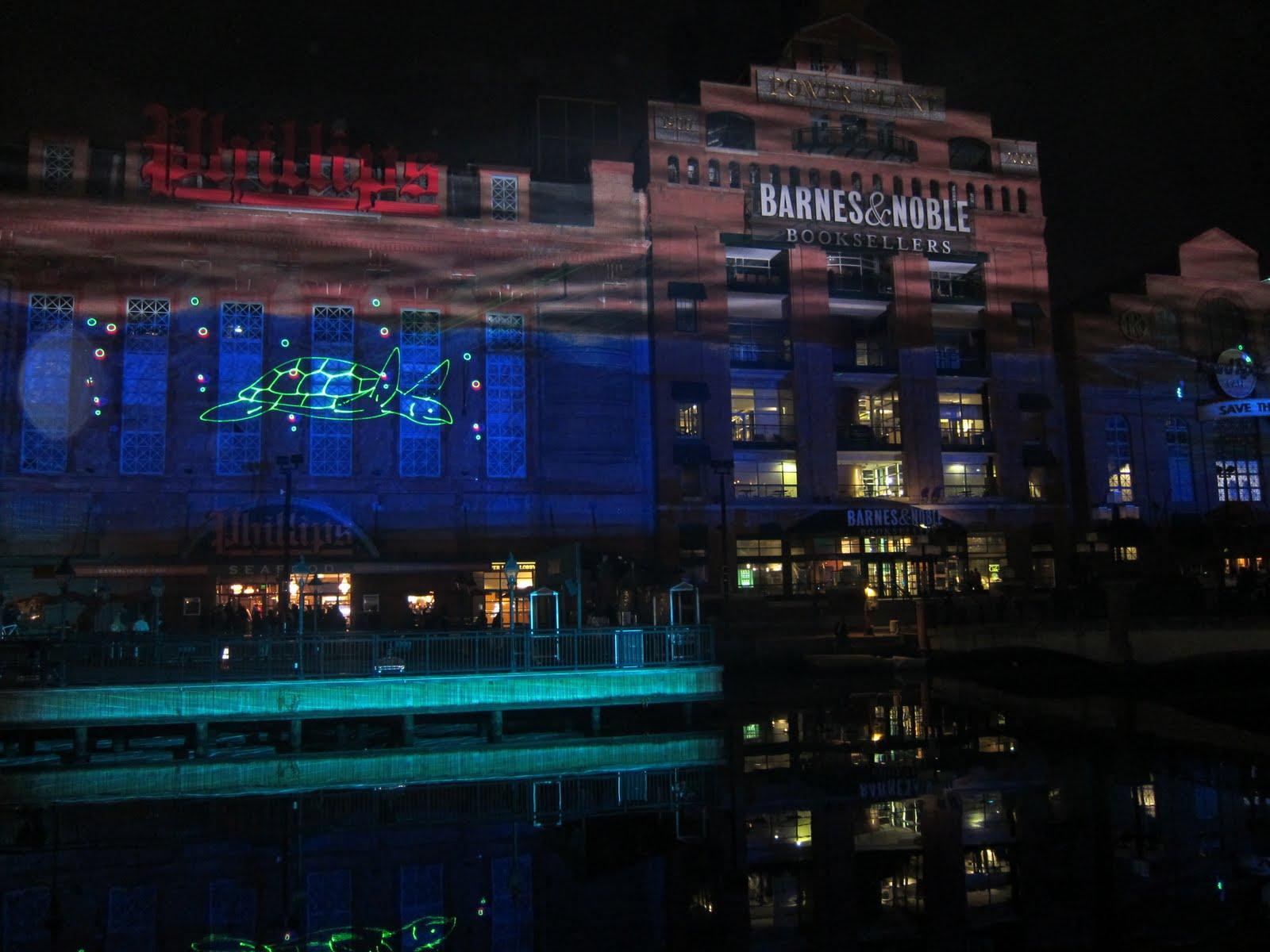 Beck In B More: New Thing 11 19 11 Inner Harbor Light Show