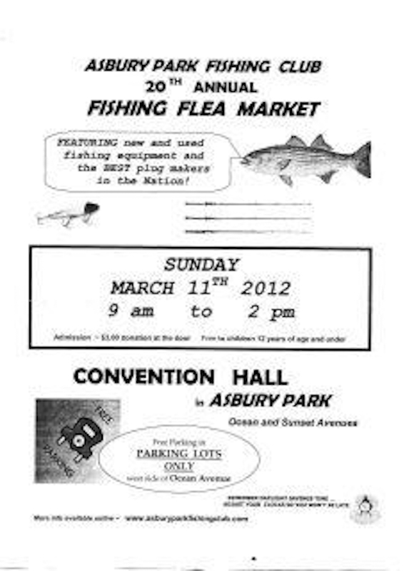 The average angler come to the asbury park for Fishing flea market nj