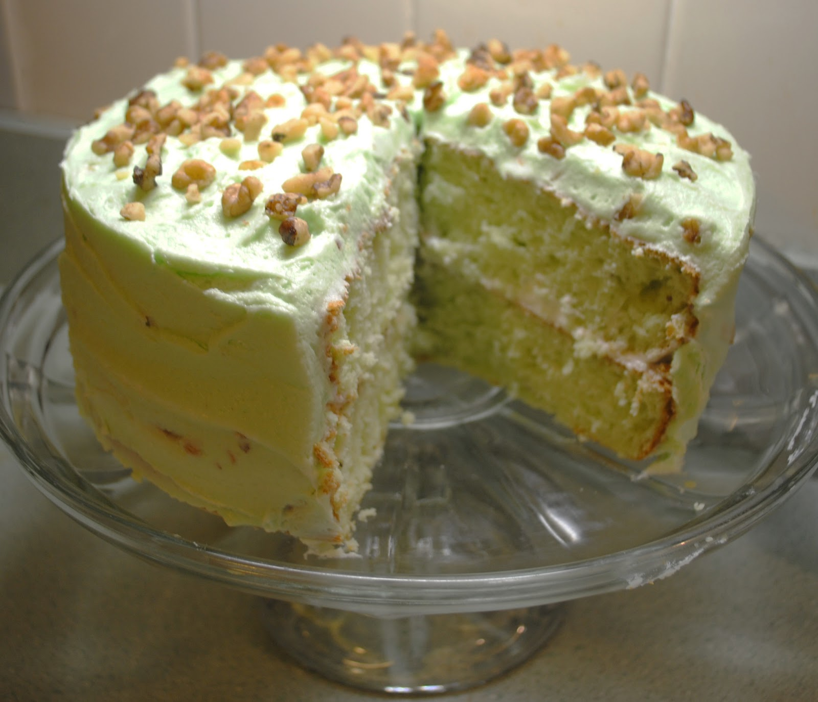 Pistachio Pudding Cake With White Cake Mix