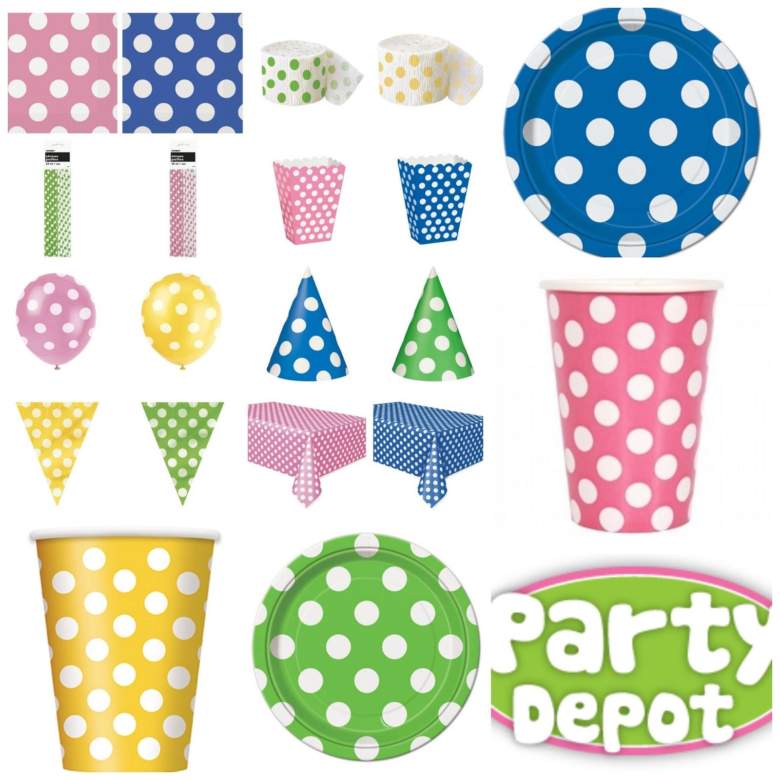 Birthday party ideas for Polka dot party ideas