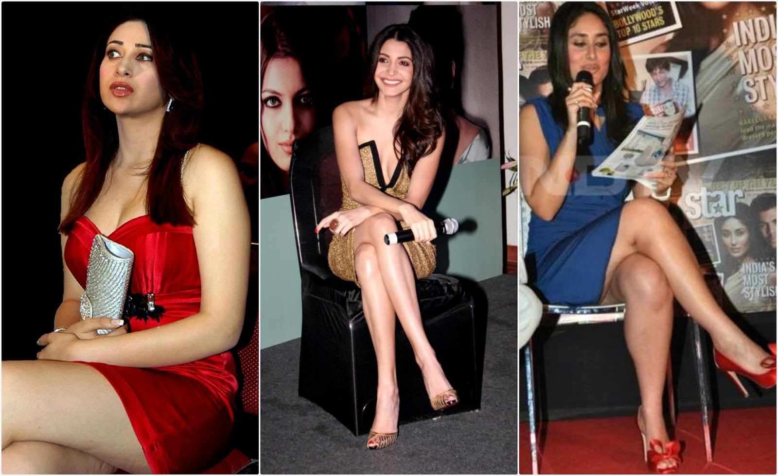 Collage Bollywood Actresses Oops and Panty Upskirts