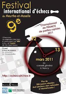 Championnat de France d'échecs rapides à Nancy