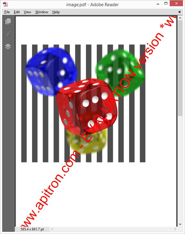 Pic. 1 Transparent image in PDF document