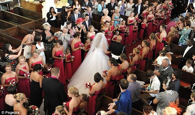 80 bridesmaids themed wedding