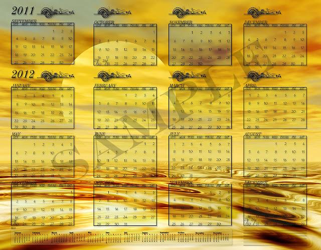 2012 printable calendar