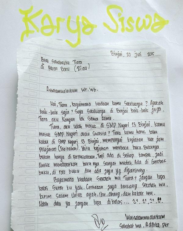 Surat Untuk Sahabat Kampoeng Pasinaon