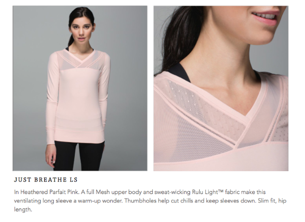 lululemon just breathe ls