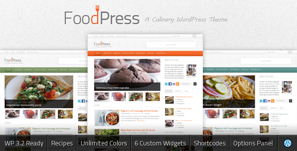Image for FoodPress – Recipe & Food Blog Theme by ThemeForest