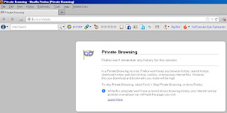 Aktifkan Mode Private Pada Browser Firefox 3