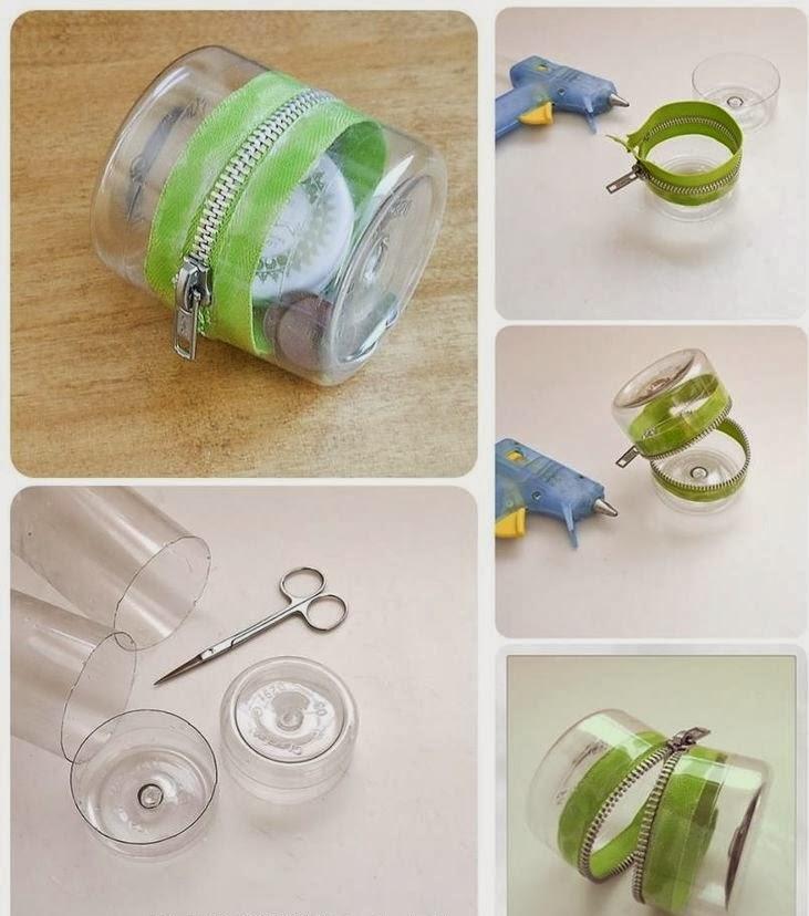 Diy plastic bottle zipper container diy craft projects - Diy projects using plastic bottles ...