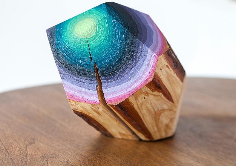 Gemas geométricas de madera de Victoria Wagner