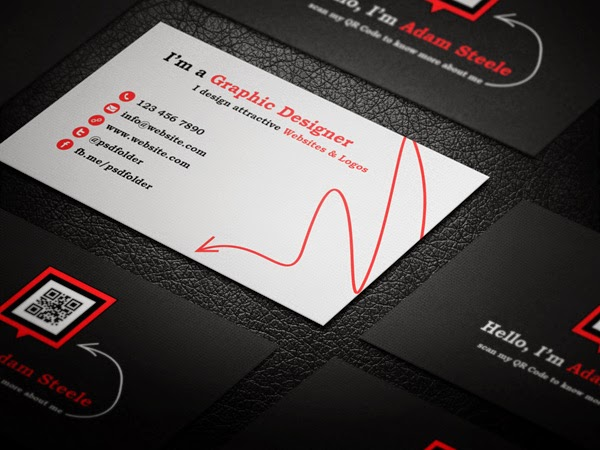 Free QR Code Business Cards PSD
