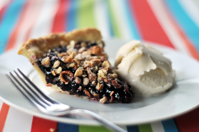Humble Pie- Huckleberry Pie with Hazelnut Struesel