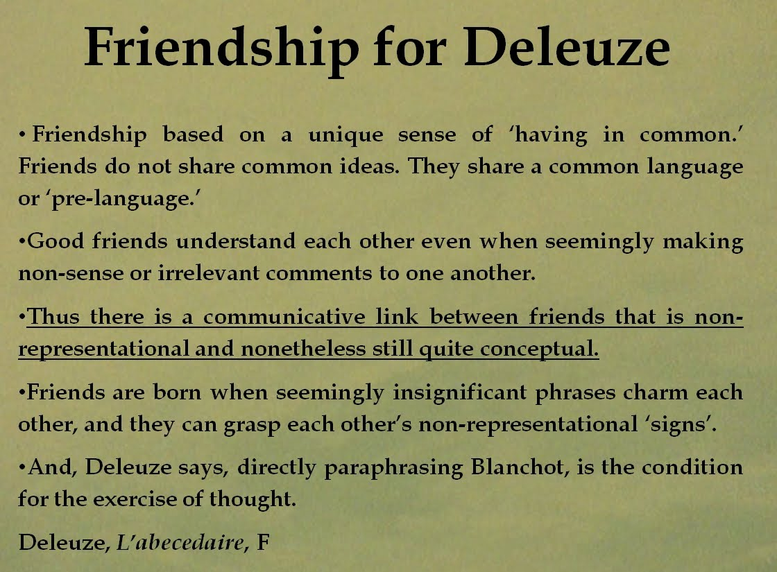 Quotes About Friendship Over Pirates & Revolutionaries Kneading Friendship Deleuze Blanchot