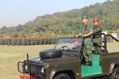 KASAD Jenderal TNI Moeldoko Resmikan Tiga Batalyon Raider Baru