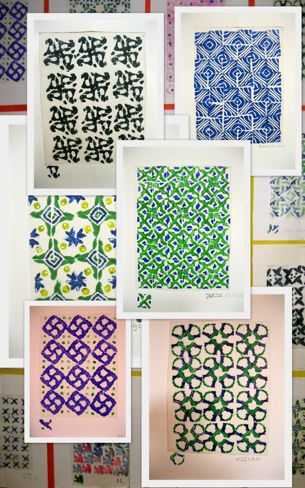 The Art Room 5th Grade Eraser Prints