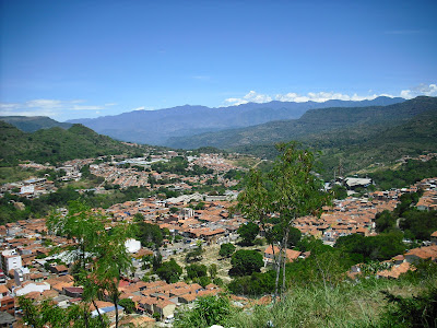 San Gil from the hilltops