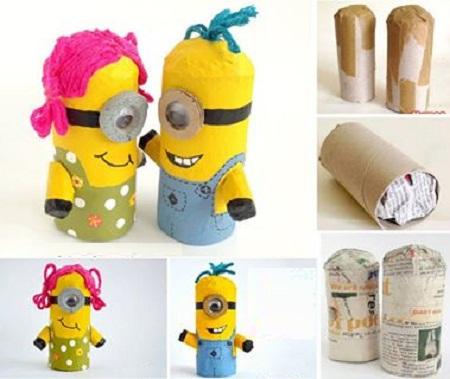 ideas para reciclar tubos de cartn juguetes y decoracin infantil