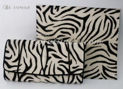 Dompet Motif Zebra Dari Kulit Pari