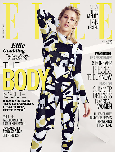 Singer, Musician @ Ellie Goulding by Aitken Jolly for Elle UK, July 2015