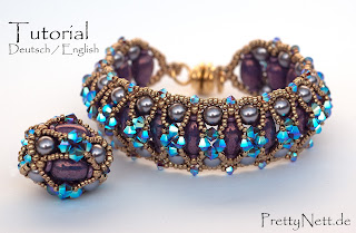 "Tutorial - Bracelet and Beaded Bead ""Balrade"" by PrettyNett.de"