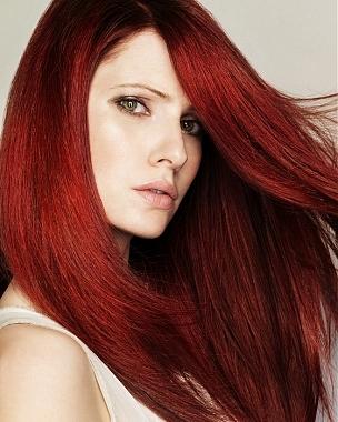 Color de pelo rojo rosa