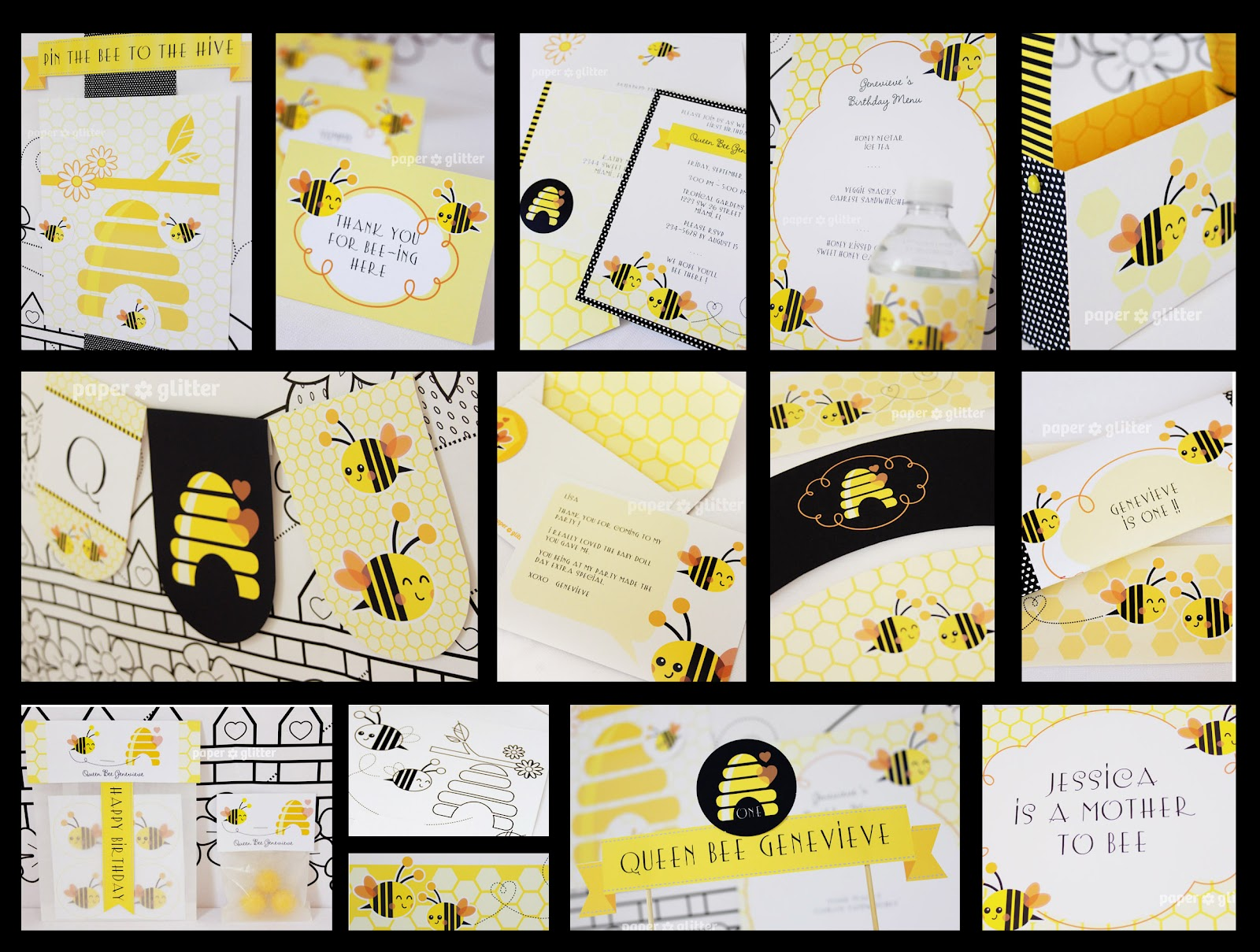 New To The Shop Printable Bee Party Kit Monicamarmolfo Images
