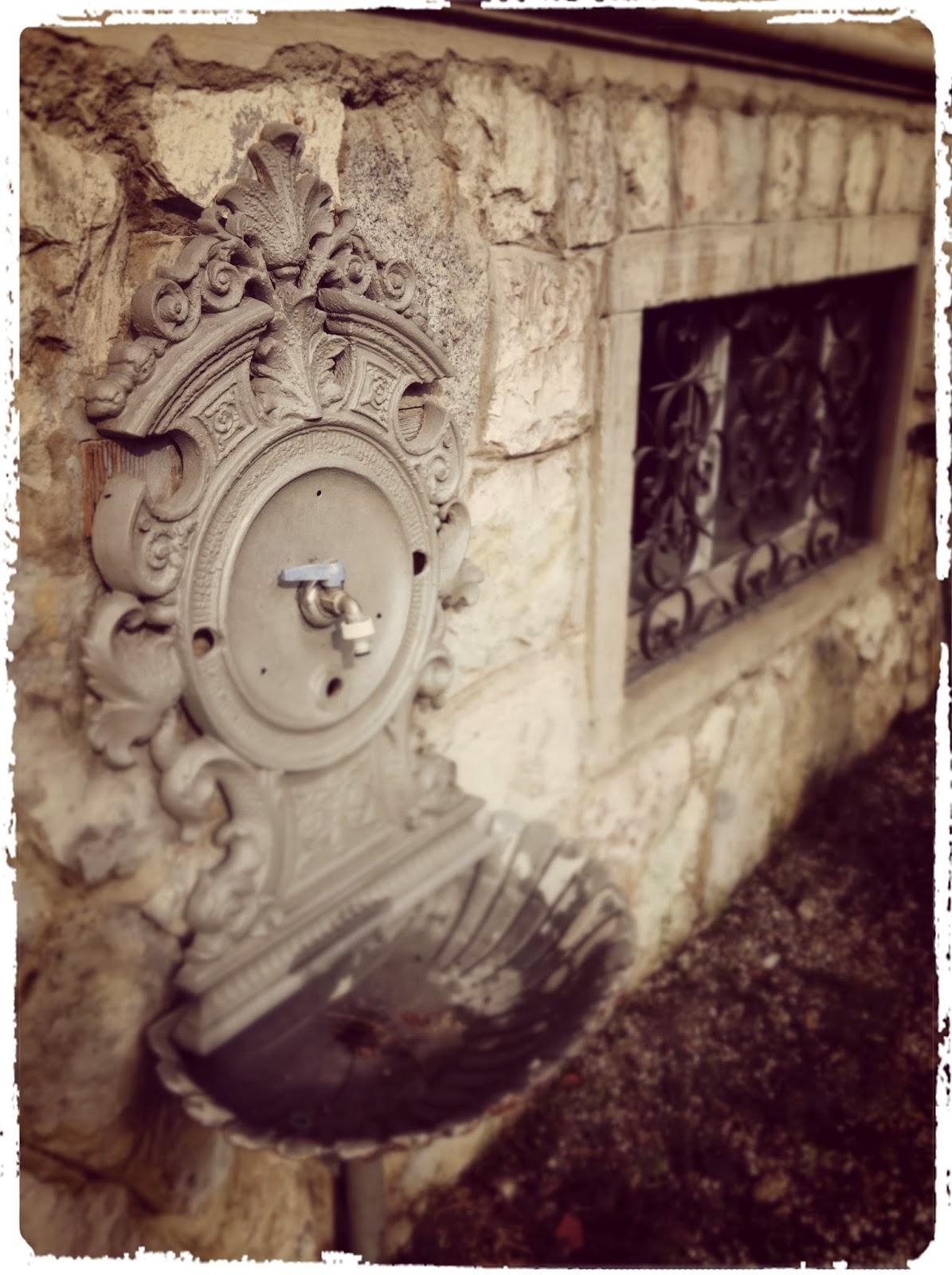 """La casa è dove si trova il cuore: la fontana: """"chi beve solo acqua ..."""