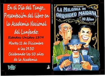 Presentación de la Milonga... en la Academia Porteña del Lunfardo