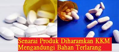 senarai produk kosmetik mengandungi bahan terlarang