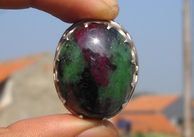 Koleksi Batu Antik: BG168- Batu Ruby Tanzania Gambar Petruk