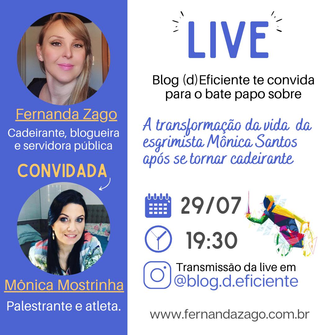 Live com a Mônica Santos