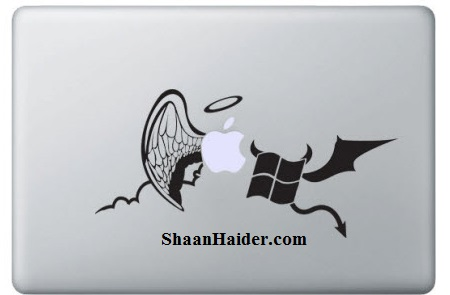 Mac vs PC MacBook Stickers and Decals