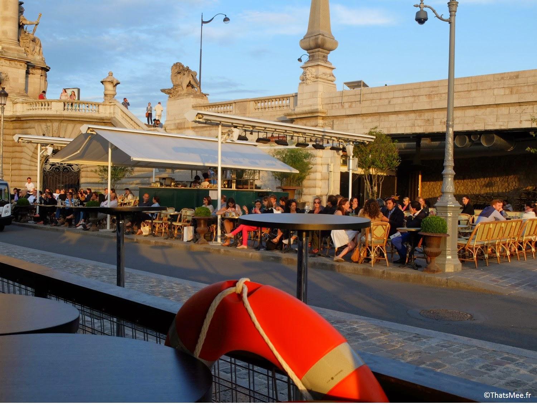 Faust restaurant terrasse sur seine Les Berges Port Pont Alexandre III 3 Paris, (c) Thatsmee.fr