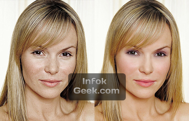 Famosos sin Photoshop antes y despues