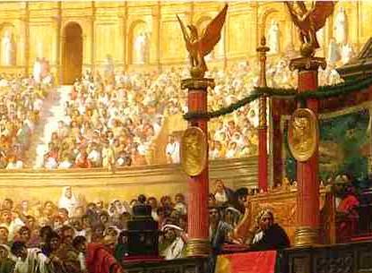 El público se enfervorecía con los combates de gladiadores