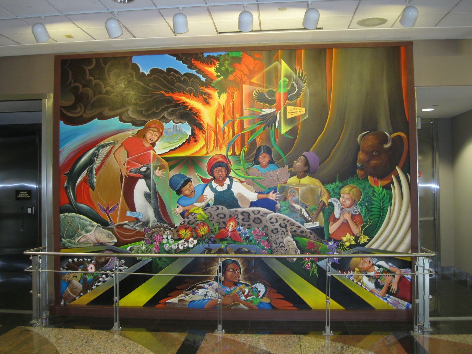 Macro bonfire a brief comment about denver airport for Denver international airport mural