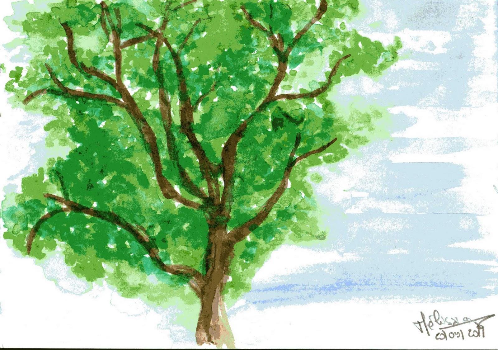 M lissia 39 s art un croquis parmi tant d 39 autres un arbre - Croquis arbre ...