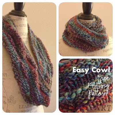 Knitting Pattern Cowl Easy : Berroco Brio Easy Cowl Free Knitting Pattern   NobleKnits Knitting Blog